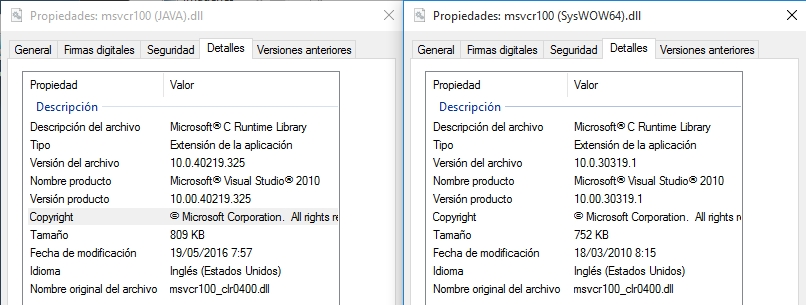 1314 – Lookup paths for msvcr100 dll do not include C:\Windows\SysWOW64